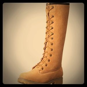 New Madden girl tan boots
